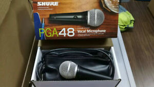 Shure PGA48 Micophone with Cable & BEHRINGER Mini Mixer800