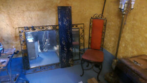 Wrought iron /marble entrance set