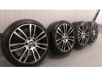 "Genuine BMW 3 4 Series 19"" 403 M Sport Alloy Wheels And Tyres F30 F31 F32 F33 DC"