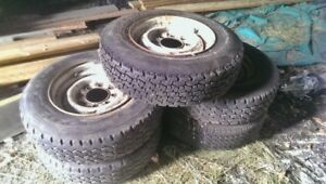 """16.5"""" chevy 8 bolt rims and tires"""