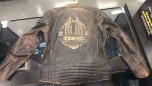 Harley Davidson Leather Riding Jacket - Distressed Leather look