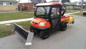 RTV with Plow and Snow Blower
