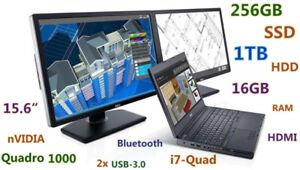 """3D-Design DELL M4600 15.6"""" i7-QUAD 256GB SSD 1TB 16GB Docking"""