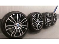 """Genuine BMW 3 4 Series 19"""" 403 M Sport Alloy Wheels And Tyres F30 F31 F32 F33 E90 DC"""