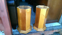 2 Solid Wood End Table Stands