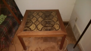 Teak coffee table and side table
