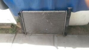 gmc pickup radiator with transmission and engine oil cooler