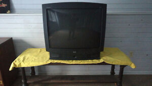 TV with a TV table