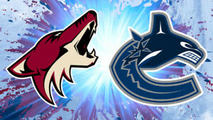 Buy Tickets for Vancouver Canucks vs. Arizona Coyotes