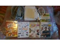 nintendo wii console with games