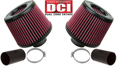 BMS N54 Dual Cone Performance Intake for BMW (Red Filters)