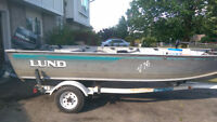 16' Deep V Lund with 30HP Yamaha