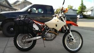 Rack and Bags to fit a KTM 500 EXC (no bike, just accessories)