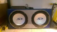 """2 12"""" alpine type S subs with pioneer amp"""