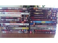 24 horror dvds job lot/bundle, one DVD £3 only! Get a bargain now £72 for 24 DVDs