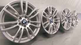 "Genuine BMW 3 4 Series 19"" 403 M Sport Alloy Wheels & Tyres F30 31 32 33 E90 92 winter"