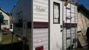 8' truck camper want to trade for pull behind trailer