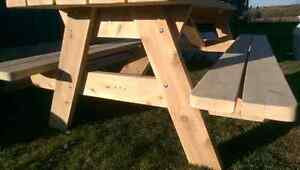 Cedar picnic table (built and ready for sale) Peterborough Peterborough Area image 7