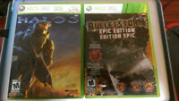 Halo 3 + Bullet Storm for XBOX 360 like new