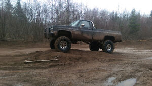 1987 Chevrolet  Lifted road and mud truck