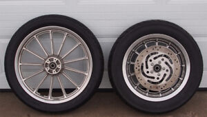 Sportster Tires, Cast Rims, Rotor, Sprocket and Bearings
