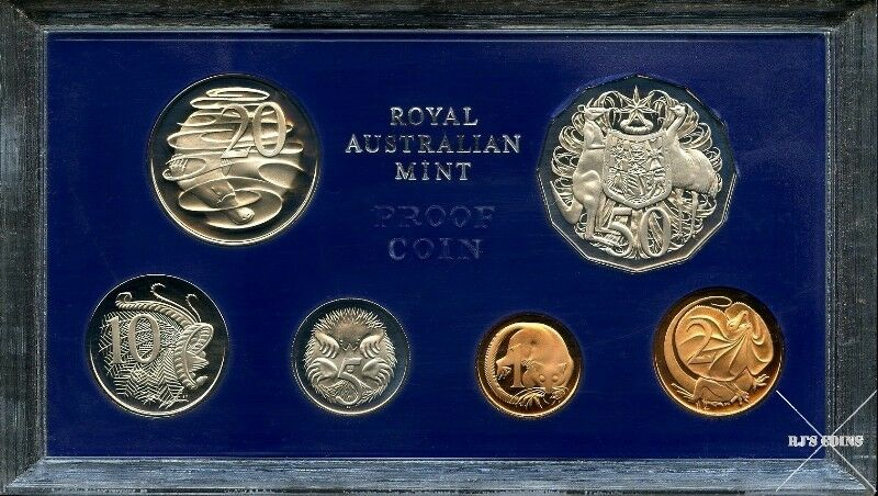 Australian 1978 Proof Six Coin Year Set from the Royal Australian Mint