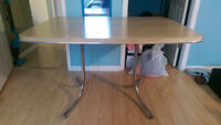 """Table 4""""x3"""" w/ 1"""" leaf - Pine Colour - GREAT condition"""