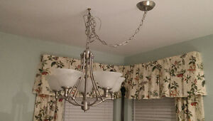 Brushed silver 5 light chandelier/ceiling light