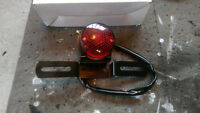 Cafe Racer Tail Light w/ License Plate Bracket