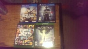 P's4 games an Xbox one games