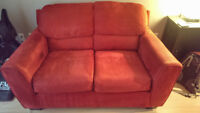 Microsuede Loveseat and Ottoman