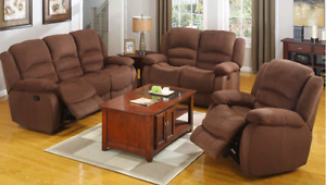 SOFA , LOVESEAT AND CHAIR RECLINER ...ALL FOR ONLY $1299 ON SALE