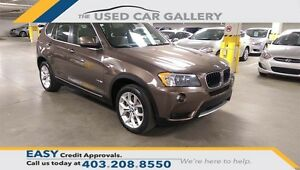 2013 BMW X3 xDrive28i, AWD, Navigation, Panorama Sunroof, No Fee