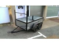 Twin axle trailer galvanised 7ftx4ft