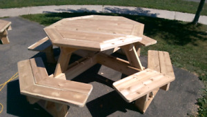 Octagon (octagonal) picnic table