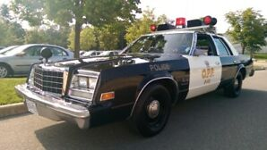 restored 1981 Plymouth police car