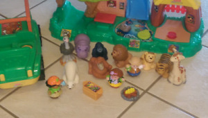 Little People Zoo Talkers and safari truck