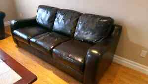 Faux Leather couch (Well Used) - $20 Kitchener / Waterloo Kitchener Area image 3