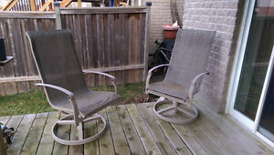 Patio Set - 1 table with 4 chairs, 1 recliner, 2 rotating chairs Kitchener / Waterloo Kitchener Area image 5