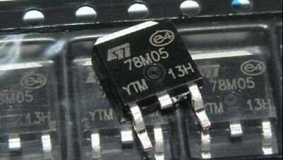 10pcs Smd 7805 Three-terminal Regulator 78m05 L78m05cdt-tr To-252 Good Quality