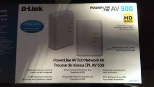 4 D-Link Powerline AV500 adapters