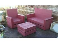 Three seater sofa and table