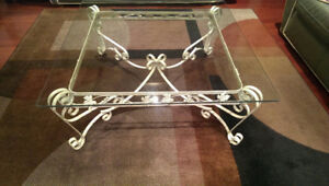 Wrought Iron Coffee Table and Sofa Table