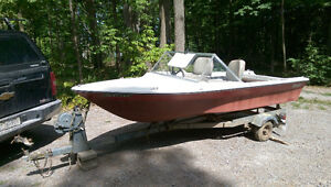 Boat trailer for sale. Free boat!