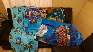ToyStory Comforter, soft chair, rug and curtains London Ontario image 1