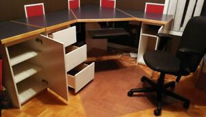 OFFICE DESK + CHAIR // BUREAU DE TRAVAIL + CHAISE