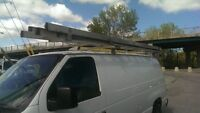 roof rack with 2 ladders