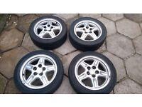 "16"" 5 spoke 114.3 x 5 alloy wheels from Mitsubishi FTO"