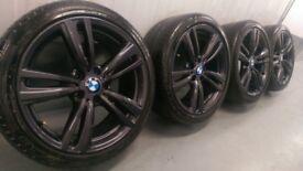 "Genuine BMW 3 4 Series 19"" 442 M Sport Alloy Wheels & Tyres F30 F31 F32 F33 F34 F36 E90 E92 Z4 An"