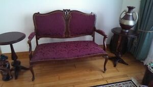 Antique style Victorian Loveseat and chair